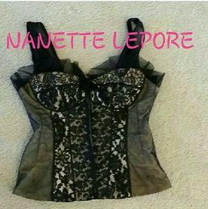 Nanette Lepore corset top